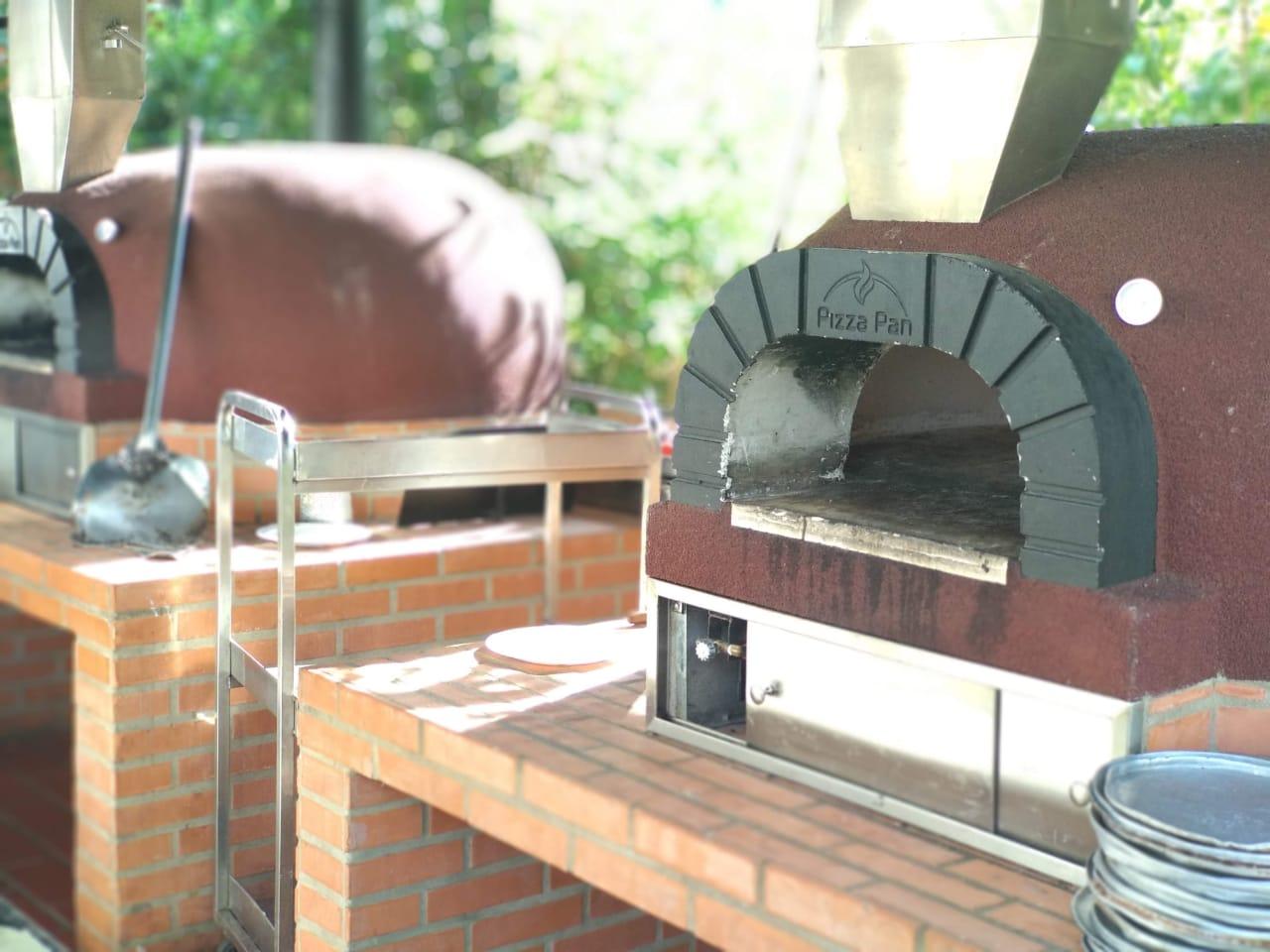 Horno para leña pizza pan